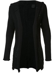 10Sei0otto Detailed Hooded Cardigan Black