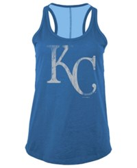 5Th And Ocean Women's Kansas City Royals Foil Tank Royalblue