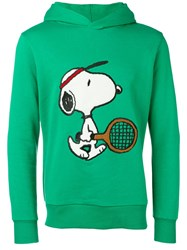 Lc23 Snoopy Embroidered Hoodie Green