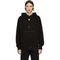 Versace Jeans Couture Black Bolo Tie Hoodie
