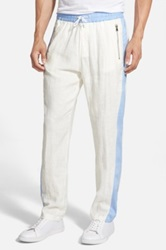 Parke And Ronen 'Ravello' Linen Track Pants White