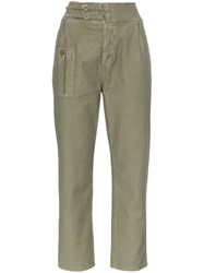 Frame Utility Service Cargo Trousers Green