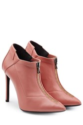 Roland Mouret Leather Ankle Boots Pink