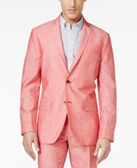 Inc International Concepts Neal Linen Blazer Only At Macy's Coral