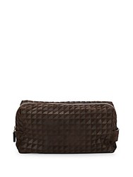 Proenza Schouler Leather And Suede Toiletry Bag Java
