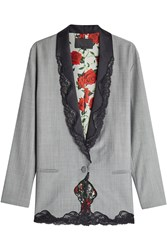 Alexander Wang Wool Blazer With Lace