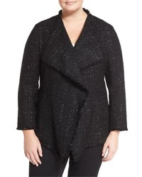 Lafayette 148 New York Garcell Metallic Tweed Jacket Black