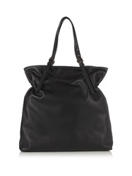 Tomas Maier Leather Tote Bag Black