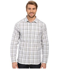 The North Face Long Sleeve Traverse Plaid Shirt Mid Grey Plaid Prior Season Long Sleeve Button Up Blue