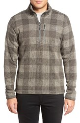 The North Face Men's Novelty Gordon Lyons Plaid Pullover Moon Mist Grey Grizzly Print