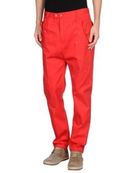 Camo Casual Pants Red