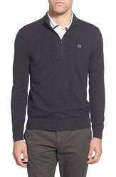 Ag Jeans Men's Ag 'Baker' Trim Fit Wool And Cashmere Half Zip Sweater Shark