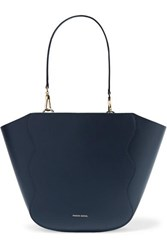 Mansur Gavriel Ocean Mini Leather Tote Navy