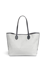 Delage 'Lulu Mm' Basketweave Effect Coated Canvas Tote Multi Colour