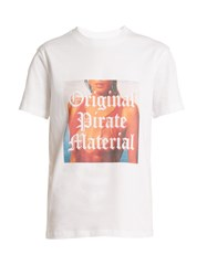 House Of Holland Original Pirate Material Cotton T Shirt White