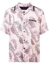 Coach Printed Short Sleeve Shirt Pink And Purple