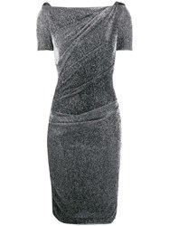 Talbot Runhof Metallic Ruched Dress