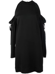 Dkny Cold Shoulder Dress Black