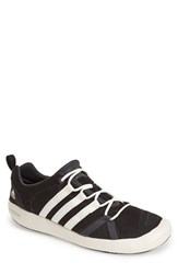 Men's Adidas 'Climacool Boat Lace' Water Shoe Black Chalk White Dark Grey