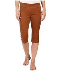 Miraclebody Jeans Rudy 17 Cuffed Sateen Shorts Butterscotch Yellow Women's Shorts Brown