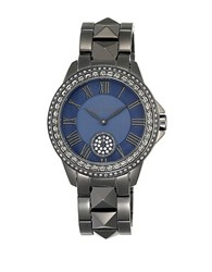 Vince Camuto Vc5161nvgy Crystal Accented Gunmetal Stainless Steel Bracelet Watch