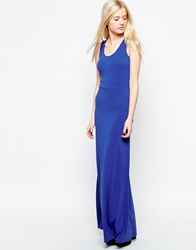 Wal G Maxi Dress In Crepe With Cross Back Electricblue