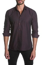 Jared Lang Long Sleeve Semi Fitted Shirt Red
