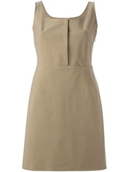 Prada Vintage Belted Classic Dress Nude And Neutrals