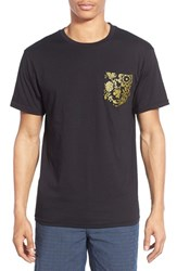 Men's Vans '50Th Anniversary' Gold Floral Print Pocket T Shirt