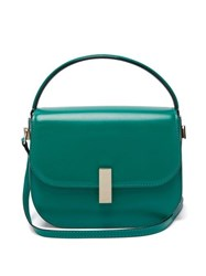 Valextra Iside Leather Cross Body Bag Green