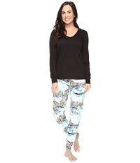Bedhead French Terry Long Sleeve Hoodie And Jogger Pants Set Grand Canal Women's Pajama Sets Multi