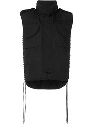 Ktz Padded Vest Jacket Polyester M Black