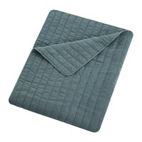 Bluebellgray Washed Quilted Bedspread Pacific