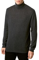 Men's Topman Lightweight Cotton Turtleneck Sweater