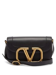 Valentino Supervee Leather Cross Body Bag Black