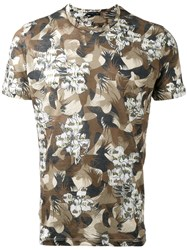 Etro Floral Camouflage T Shirt