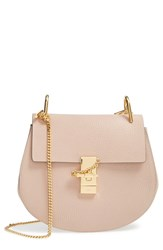Chloe Chloe 'Drew' Leather Crossbody Bag Pink Cement Pink Gold Hrdwre