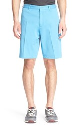 Men's Paul And Shark Flat Front Stretch Cotton Shorts Blue