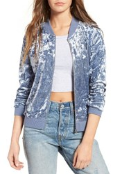 Fire Women's Love Velvet Bomber Jacket