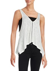 Red Haute Double Layer Tank Top White