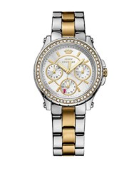 Juicy Couture Ladies Two Tone Crystallized Pedigree Watch