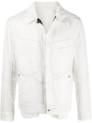 Isaac Sellam Experience Refractaire Buttoned Shirt Jacket White