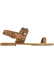 Tomas Maier Studded Toe Loop Sandals