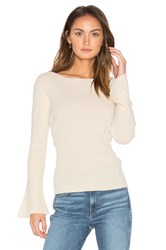 Central Park West Salzburg Pullover Cashmere Sweater White