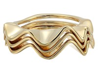 Kate Spade Frilled To Pieces Stackable Ring Set Gold Ring