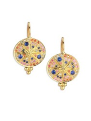 Temple St. Clair Celestial Multicolor Sapphire And 18K Yellow Gold Sorcerer Drop Earrings Gold Multi