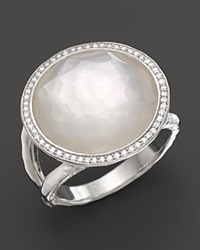 Ippolita Sterling Silver Stella Lollipop Ring In Mother Of Pearl Doublet With Diamonds