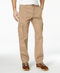 American Rag Men's Solid Cargo Pants Dull Gold
