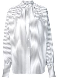 Tome Striped Oversized Shirt White