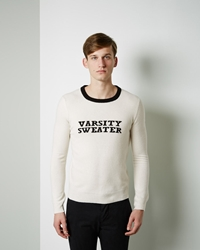 Band Of Outsiders 'Varsity Sweater' Ivory